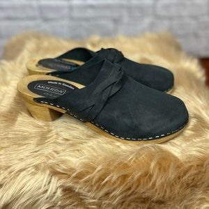 Moheda black Swedish Clogs euro 39
